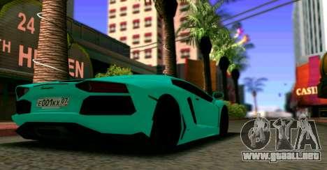 Lamborghini Aventador LP700-4 2012 para GTA San Andreas left