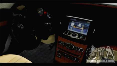 Infiniti M56 para la visión correcta GTA San Andreas
