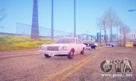DirectX Test 2 - ReMastered para GTA San Andreas segunda pantalla