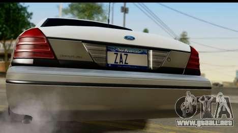 Ford Crown Victoria para la visión correcta GTA San Andreas