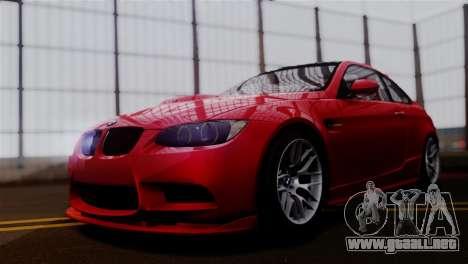 BMW M3 E92 GTS 2012 v2.0 Final para GTA San Andreas vista posterior izquierda