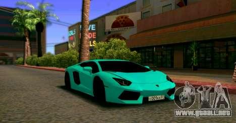 Lamborghini Aventador LP700-4 2012 para GTA San Andreas vista hacia atrás