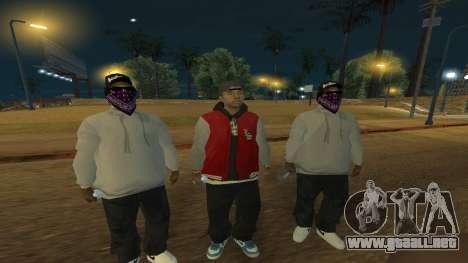 Ballas Skin Pack para GTA San Andreas segunda pantalla