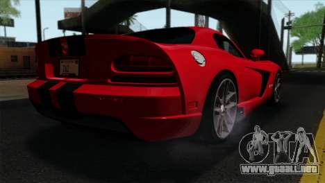 Dodge Viper SRT10 v1 para GTA San Andreas left