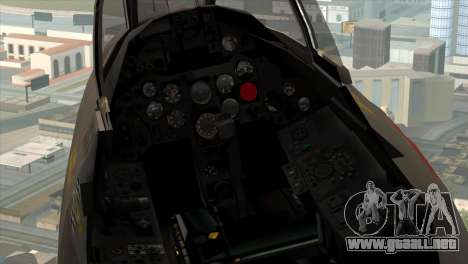 MIG-21MF Romanian Air Force para GTA San Andreas vista hacia atrás