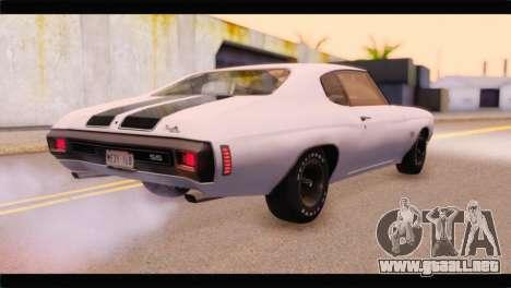 Chevrolet Chevelle 1970 3D Shadow para GTA San Andreas