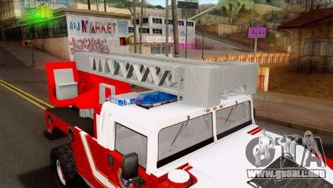 Hummer H1 Fire para GTA San Andreas vista hacia atrás