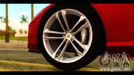 Lamborghini Estoque PJ para GTA San Andreas vista posterior izquierda