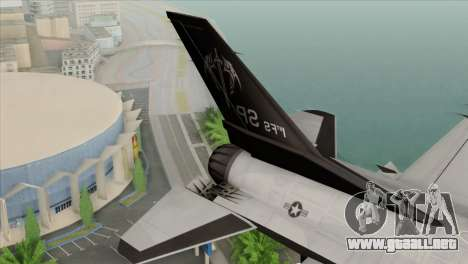 F-16C Fighting Falcon Wind Sword Squadron para GTA San Andreas vista posterior izquierda