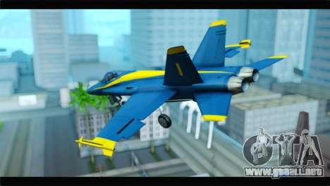 McDonnell Douglas FA-18 Blue Angel para GTA San Andreas left