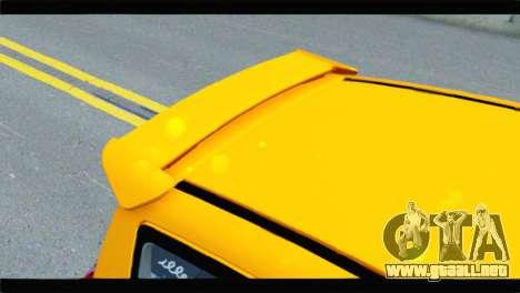 Citroen C2 para GTA San Andreas vista hacia atrás