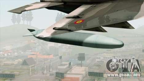 Hawker Hunter F6A para la visión correcta GTA San Andreas