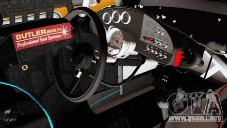 NASCAR Dodge Charger 2012 Short Track para la visión correcta GTA San Andreas