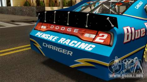 NASCAR Dodge Charger 2012 Plate Track para GTA San Andreas vista hacia atrás