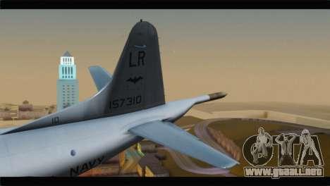 Lockheed P-3C Orion US Navy VP-24 para GTA San Andreas vista posterior izquierda