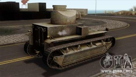 T2 Medium Tank para GTA San Andreas left