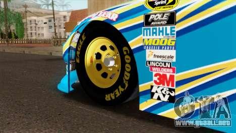 NASCAR Dodge Charger 2012 Plate Track para GTA San Andreas vista posterior izquierda