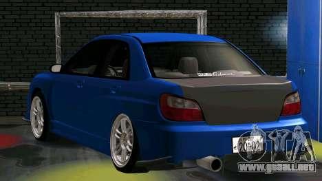 Subaru Impreza WRX para la visión correcta GTA San Andreas