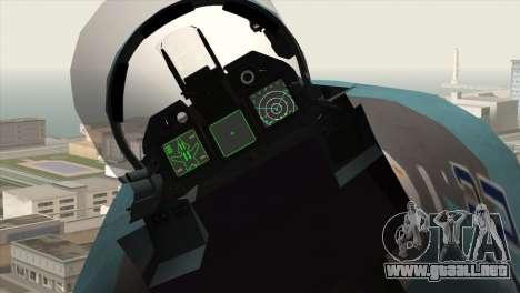 SU-47 Berkut Winter Camo para la visión correcta GTA San Andreas