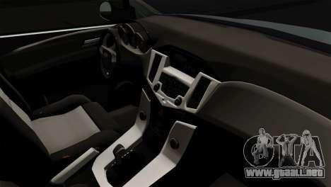Chevrolet Cruze Hatchback para GTA San Andreas vista posterior izquierda