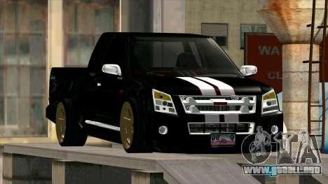 Isuzu D-Max X-Series para GTA San Andreas vista hacia atrás