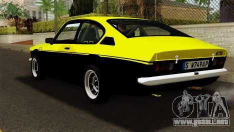Opel Kadett E GTE 1900 Italian Rally para GTA San Andreas left