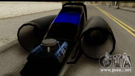 Jet Car para GTA San Andreas vista posterior izquierda
