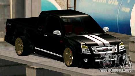 Isuzu D-Max X-Series para vista lateral GTA San Andreas