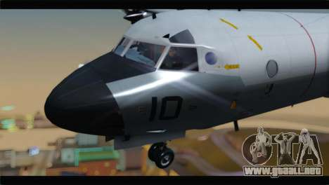 Lockheed P-3C Orion US Navy VP-24 para GTA San Andreas vista hacia atrás