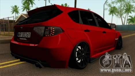 Subaru Impreza WRX STI Stanced para GTA San Andreas left