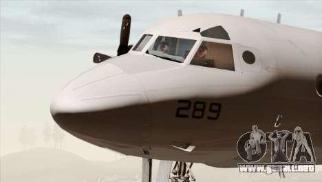Lockheed P-3C Orion JMSDF Shimofusa para GTA San Andreas vista hacia atrás