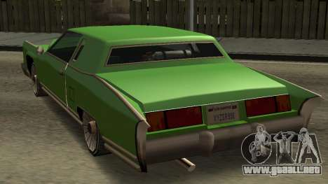 Beta Remington para GTA San Andreas vista hacia atrás