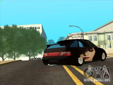 VAZ 2112 para GTA San Andreas vista posterior izquierda