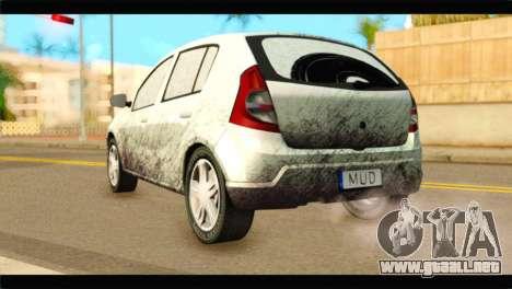 Dacia Sandero Dirty Version para GTA San Andreas left