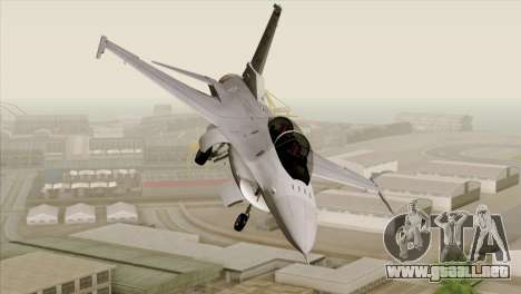F-16D Fighting Falcon para GTA San Andreas vista hacia atrás