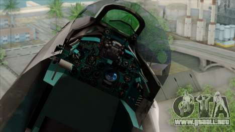 Hawker Hunter F6A para GTA San Andreas vista hacia atrás