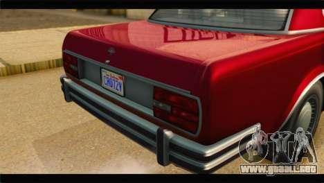 GTA 5 Benefactor Glendale IVF para GTA San Andreas vista hacia atrás