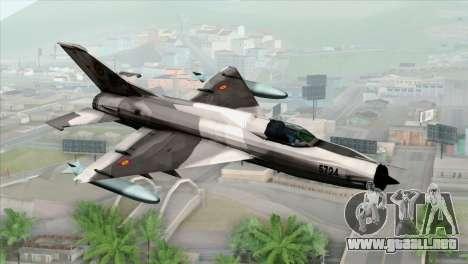 Hawker Hunter F6A para GTA San Andreas