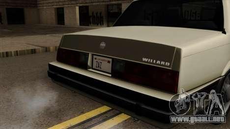 GTA 4 Willard II para GTA San Andreas vista hacia atrás