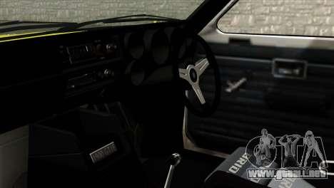 Opel Kadett E GTE 1900 Italian Rally para la visión correcta GTA San Andreas