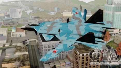 SU-47 Berkut Winter Camo para GTA San Andreas left