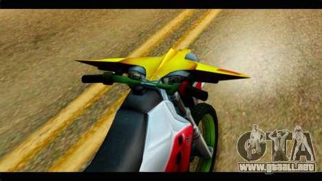 Trychaser 2000 para GTA San Andreas vista hacia atrás