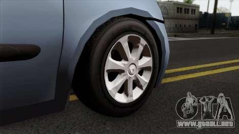 Renault Clio Mio 3P para GTA San Andreas vista posterior izquierda