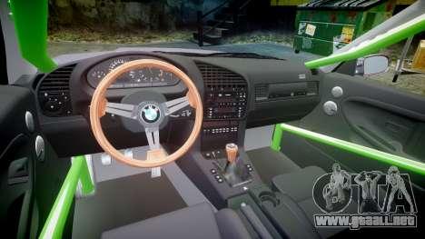 BMW M3 E36 Stance para GTA 4 vista hacia atrás