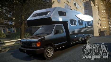 GTA IV Steed Camper para GTA 4 Vista posterior izquierda