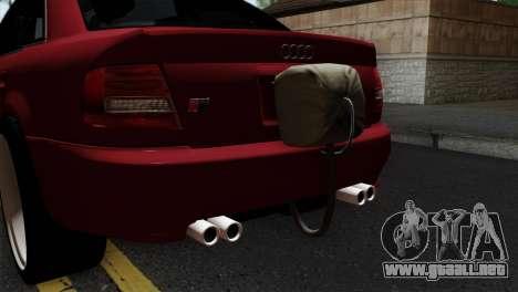 Audi S4 2000 Drag Version para GTA San Andreas vista hacia atrás