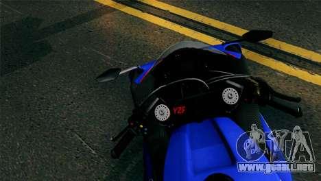 Yamaha YZF-R1 PJ para GTA San Andreas vista posterior izquierda