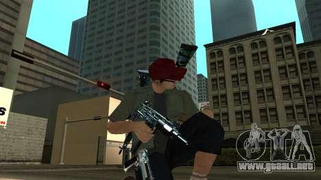 Guns Pack para GTA San Andreas sucesivamente de pantalla