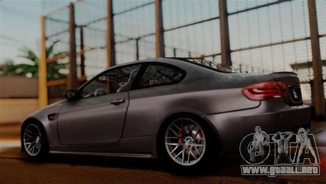 BMW M3 E92 GTS 2012 v2.0 Final para visión interna GTA San Andreas