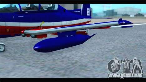 Beechcraft T-6 Texan II Red para la visión correcta GTA San Andreas